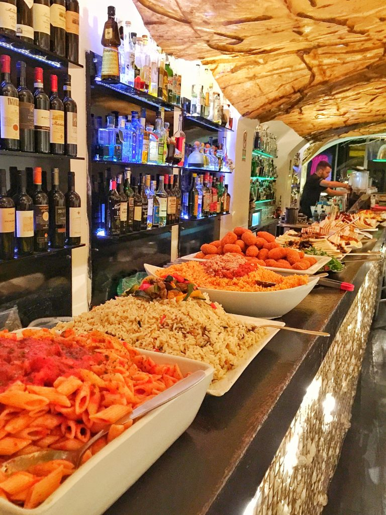 fluid wine bar aperitivo rome